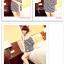 เสื้อแฟชั่นเกาหลี ทรงยาว ลายขวาง เย็บลูกไม้เป็นคอเสื้อ เด่นสุดๆ thumbnail 4