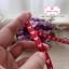 ริบบิ้นผ้าแถบ สีแดง ลายหัวใจสีขาว กว้าง 1 ซ.ม. แบ่งขายเป็นหลา thumbnail 7