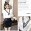 เสื้อแฟชั่นเกาหลีสวยๆ คอเต่าผ้านิ่ม คาดลายเหมือนคอวี ทั้ง 2 ด้าน ดูเก๋จริงๆ thumbnail 18