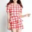 เดรสเกาหลีแบบขากางเกง สีสันสดใสมาในแบบลายสก๊อต สวยใส ไม่ตกเทรนด์ thumbnail 9