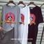 เสื้อยืดแฟชั่นทรงยาว แหวกแนวด้วยการผ่าหน้า ไม่เหมือนใคร สกรีนลายการ์ตูนยอดฮิต thumbnail 3