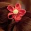 ยางรัดผมแฟชั่นดอกไม้สีแสด thumbnail 1
