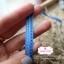 ริบบิ้นผ้าแถบ สีฟ้า ลายเส้นปะ กว้าง 1 ซ.ม. แบ่งขายเป็นหลา thumbnail 2