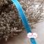 ริบบิ้นผ้า พื้นสีฟ้า ลายเส้นสีขาว กว้าง 1ซม. แบ่งขายเป็นหลา thumbnail 2