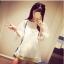 เสื้อแฟชั่นเกาหลี แขนสามส่วน ตัดเย็บผสมผ้าซีทรู ติดโบว์แขนเสื้อน่ารักๆ สวย ดูดี น่ารักฝุดๆ thumbnail 13