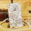เคสไอโฟน5/5s/SE (Case Iphone 5/5s/SE) กรอบโปร่งใส ประดับเพชร รูปหอคอยสีเงิน thumbnail 1