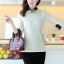 เสื้อแฟชั่นเกาหลี แขนยาว ตัดเย็บด้วยลูกไม้ลายสวย ประณีต มีระดับ ไฮโซสุดๆ thumbnail 1