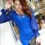 เดรสสั้นเกาหลี แขนยาวซีทรู ตกแต่งตัวเสื้อด้วยคริสตัล ระยิบระยับ thumbnail 18