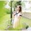เดรสสั้นเกาหลี Mayuki ปกเสื้อสไตล์ผูกโบว์ thumbnail 8