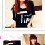 เสื้อยืดแฟชั่นเกาหลี พิมพ์ลายสกรีนด้านหน้าเสื้อ สวมใส่สบาย มีให้เลือกถึง 2 สี thumbnail 2
