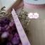 ริบบิ้นผ้าแถบ สีชมพู ลายหัวใจสีม่วง กว้าง 1 ซ.ม. แบ่งขายเป็นหลา thumbnail 6
