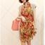 ผ้าพันคอชีฟอง สีส้ม ( รหัส P8 ) thumbnail 1