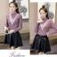เสื้อแฟชั่นเกาหลีสวยๆ คอเต่าผ้านิ่ม คาดลายเหมือนคอวี ทั้ง 2 ด้าน ดูเก๋จริงๆ thumbnail 22