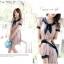 เดรสสั้นเกาหลี Mayuki ปกเสื้อสไตล์ผูกโบว์ thumbnail 7