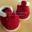 รองเท้ารัดข้อสีแดงสายสีครีม ขนาด 3-6 เดือน thumbnail 1