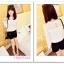 เสื้อแขนยาวแฟชั่นเกาหลี ตัดเย็บกับลายลูกไม้ เบาสบายด้วยเนื้อผ้าชีฟอง thumbnail 8