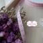 ริบบิ้นผ้าแถบ สีชมพู ลายหัวใจสีม่วง กว้าง 1 ซ.ม. แบ่งขายเป็นหลา thumbnail 2