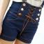 เอี๊ยมกางเกงทรงเอวสูง ครึ่งตัว สีสวย มาพร้อมดีไซน์ เชือกร้อยเหมือนหูรองเท้า น่ารักฝุดๆ thumbnail 2