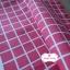 ผ้าคอตตอนลินิน 1/4ม.(50x55ซม.) พื้นสีชมพูเข้ม ลายตารางสีขาว thumbnail 1