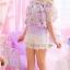 เสื้อแฟชั่นสตรี ตัดเย็บด้วยชีฟองลายดอกไม้ เป็นเกาะอกแสนหวาน thumbnail 13
