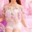 เสื้อแฟชั่นสตรี ตัดเย็บด้วยชีฟองลายดอกไม้ เป็นเกาะอกแสนหวาน thumbnail 9
