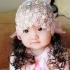 ที่คาดผมติดปอยผม ลายดอกกุหลาบ สีชมพู น่ารัก สไตล์เกาหลี
