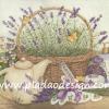 กระดาษสาพิมพ์ลาย สำหรับทำงาน เดคูพาจ Decoupage แนวภาำพ ภาพวาด ตระกร้าใส่ดอกลาเวนเดอร์ Lavender และผลิตภัณฑ์จากดอกลาเวนเดอร์ จำพวกสบู่ แชมพู โลชั่น (ปลาดาวดีไซน์)